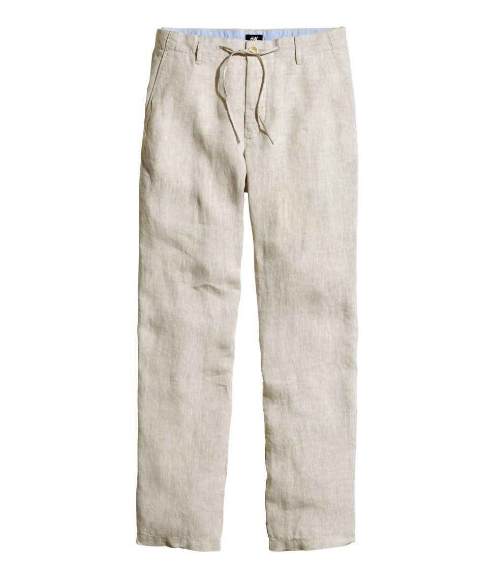 8e47ddce27 Linen pants | H&M For Men | H&M MAN | Linen pants outfit, Linen ...
