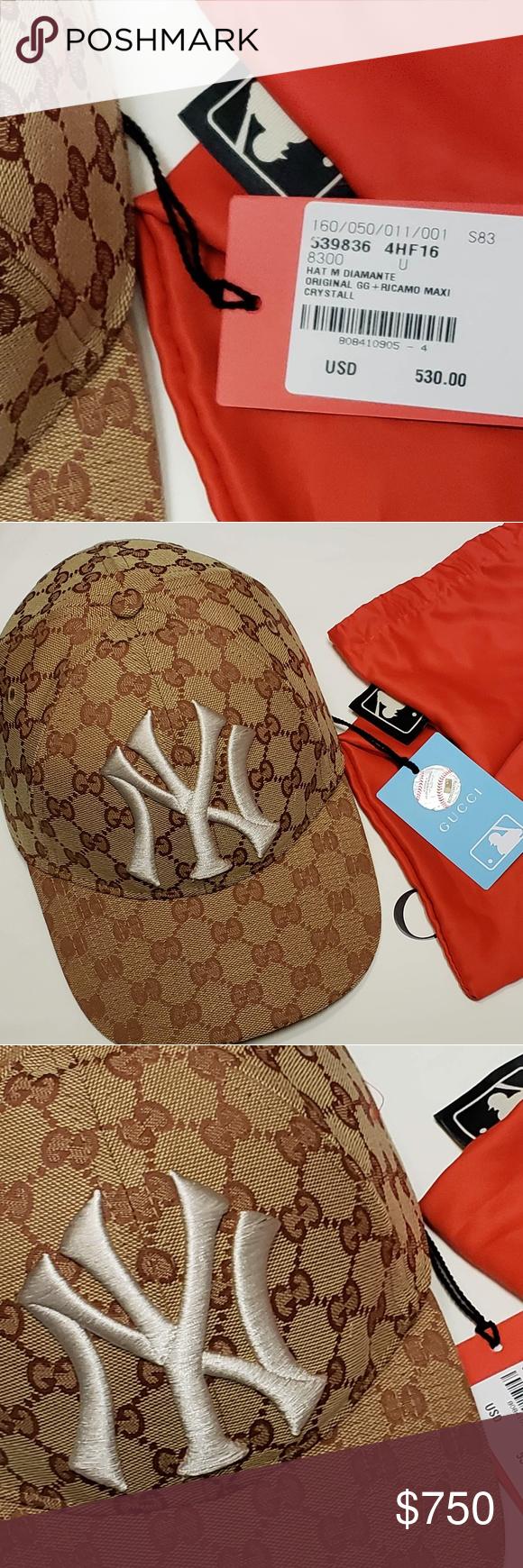 7b2c88b191b9b 🔥🔥Exclusive Gucci NY Yankees Cap NEW 🔥🔥 Gucci NY YANKEES MLB baseball  cap Authentic