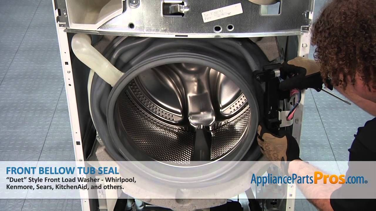 Duet Washer Front Bellow Tub Seal (part #WP8181850) - How To Replace ...