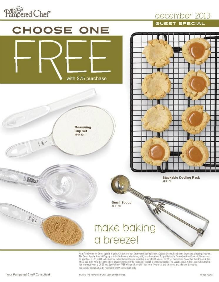 The Pampered Chef December Guest Special Pick One When Your Order