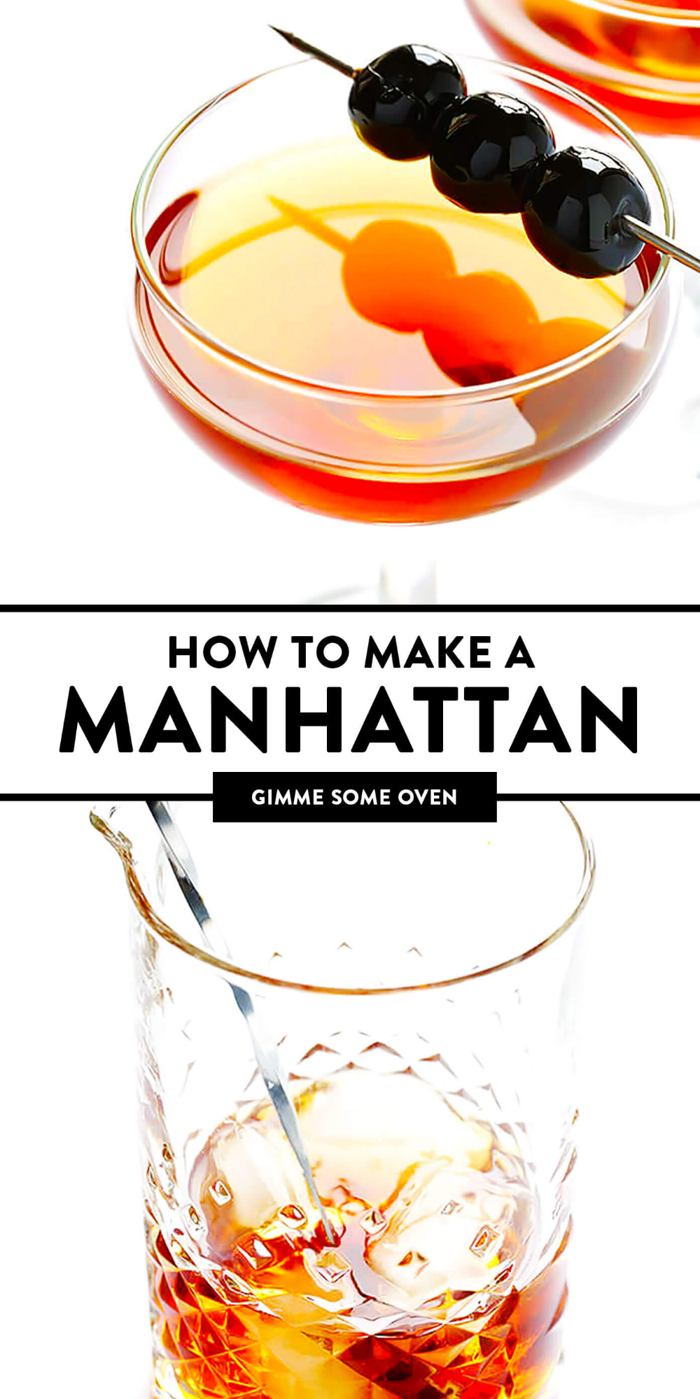 Manhattan Cocktail Gimme Some Oven Recipe Manhattan Cocktail Cocktail Drinks Recipes Fancy Drinks