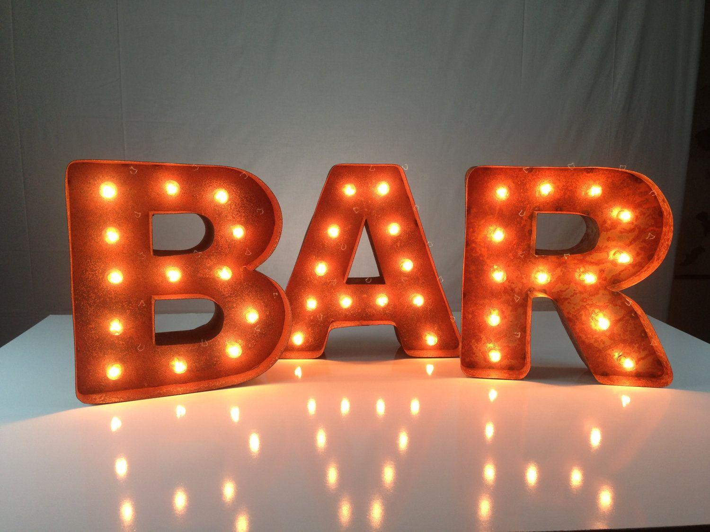 mini vintage marquee lights 12 choose any letter 149 00 via