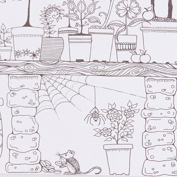 24 Sheets Secret Garden Inky Treasure Hunt And Coloring Book For Children Adult Relieve Stress Painting