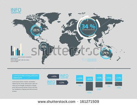 Einfache map mit infografik elementen in unterschiedlicher gre see a rich collection of stock images vectors or photos for infographic map you can buy on shutterstock gumiabroncs Images