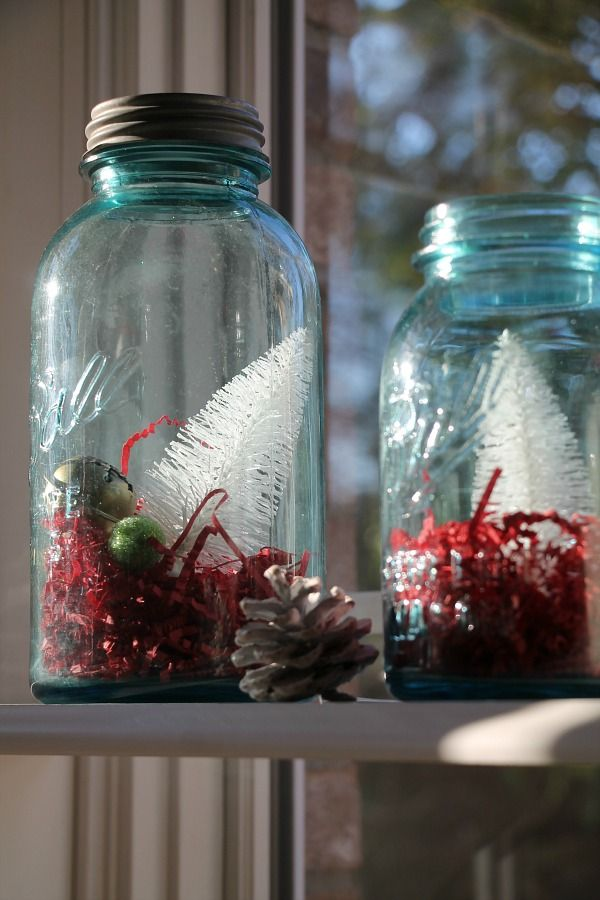 Mason Jar Decorating Ideas For Christmas Easy Christmas Decorating Ideas For The Kitchen  Mason Jar