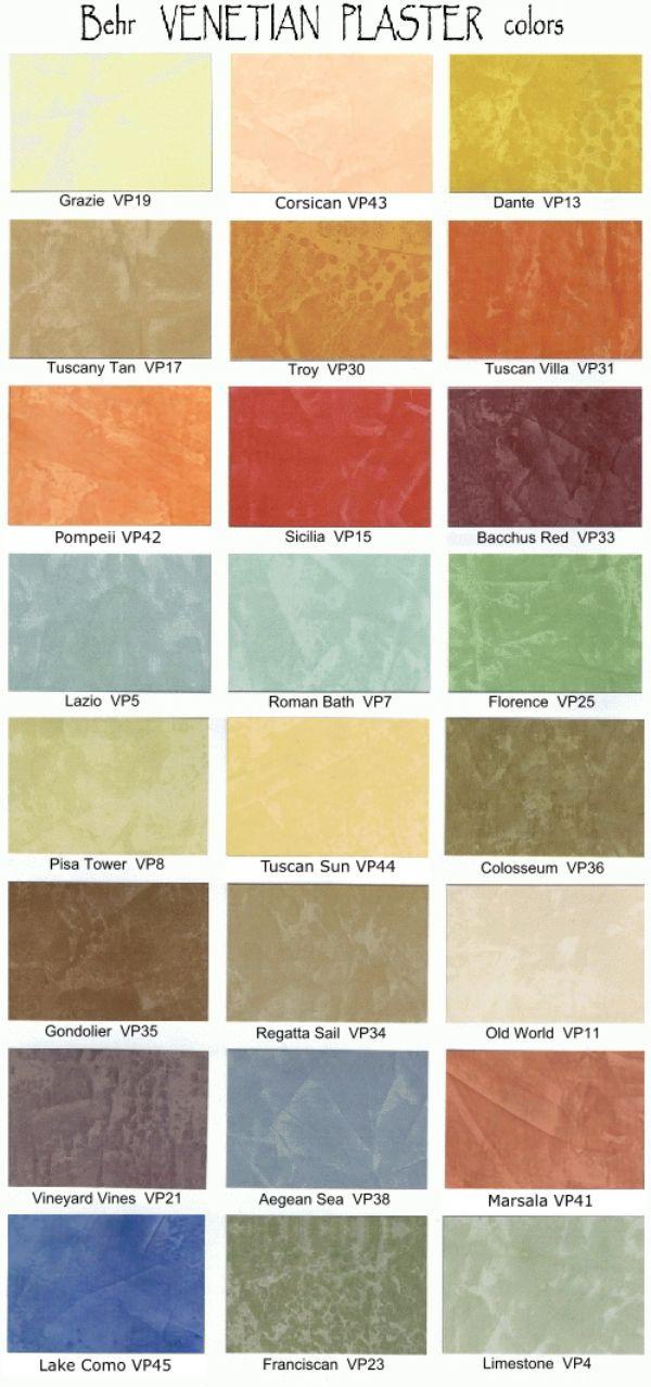 Behr Venetian Plaster Color Chart Heartpulsar