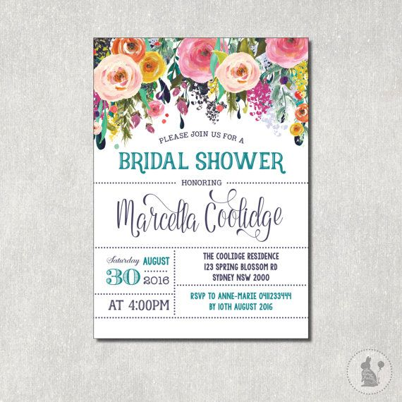 Floral bridal shower invitation flower baby shower digital invite floral bridal shower invitation flower baby shower digital invite rustic flowers shabby chic filmwisefo Choice Image