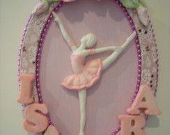 Quadro Bailarina Rosa