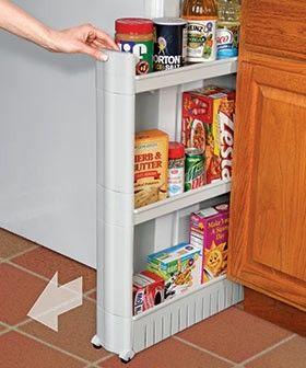 Slim Pantry Slim Pantry Cart Fits In Tight Spaces Adds Handy Storage Roomy Yet Narrow 3