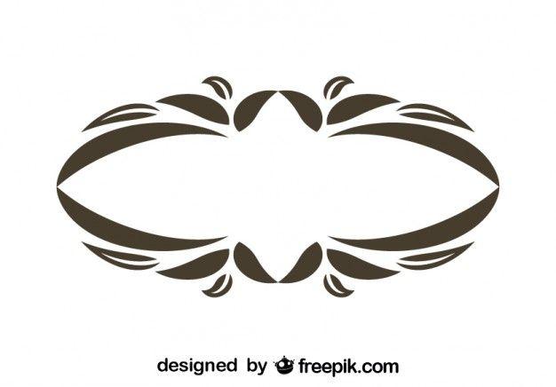 Vintage Oval Floral Decorative Frame Design
