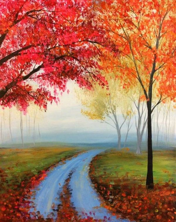 100 Artistic Acrylic Painting Ideas For Beginners Easy Canvas Painting Simple Acrylic Paintings Autumn Painting