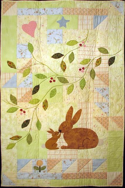 Some Bunny Loves You Baby Quilt Pattern By Gretchen Gibbons At Celebration Of Life Designs Animal Baby Quilt Bunny Quilt Applique Quilts