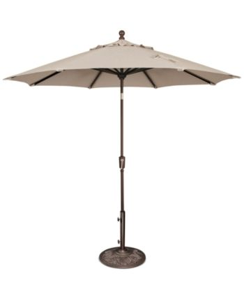 Outdoor Bronze 9 Push Button Tilt Umbrella Quick Ship