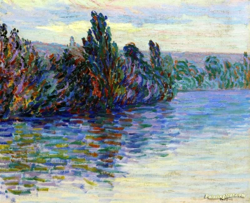Banks Of The Seine Artwork by Auguste Herbin