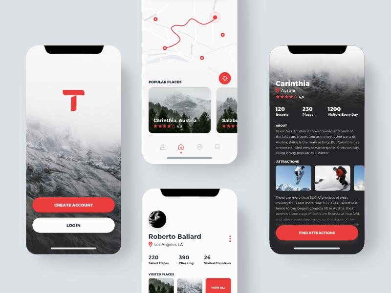 Travio Mobile App Screens Mobileapps Ios App Design Web App Design Mobile App