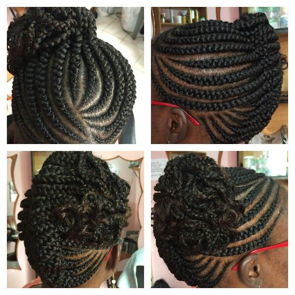 African Braid Lines Natural Hair Styles Try On Hairstyles