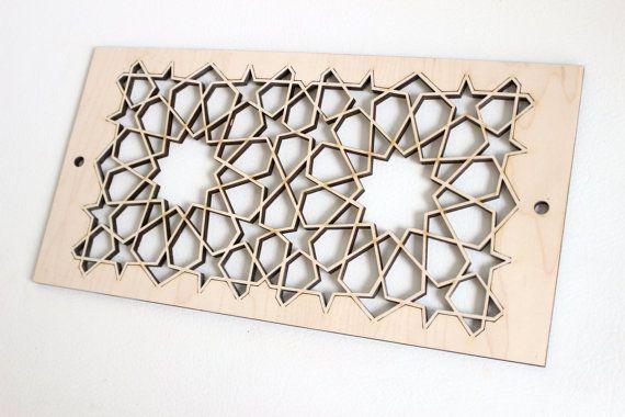 Wooden Heater Vent Cover Custom Pattern Chevron Decorative