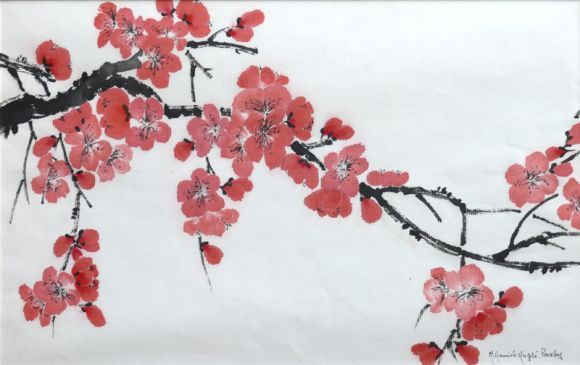 Fleurs Japonaises Flower Drawing Flower Art Drawings