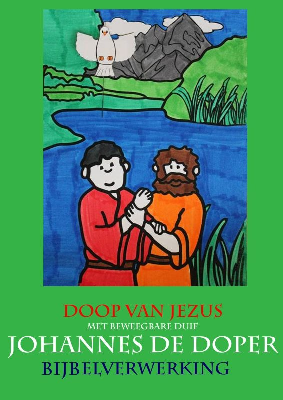 johannes de doper doop jezus met beweegbare duif