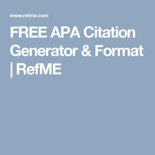 free apa citation generator format refme