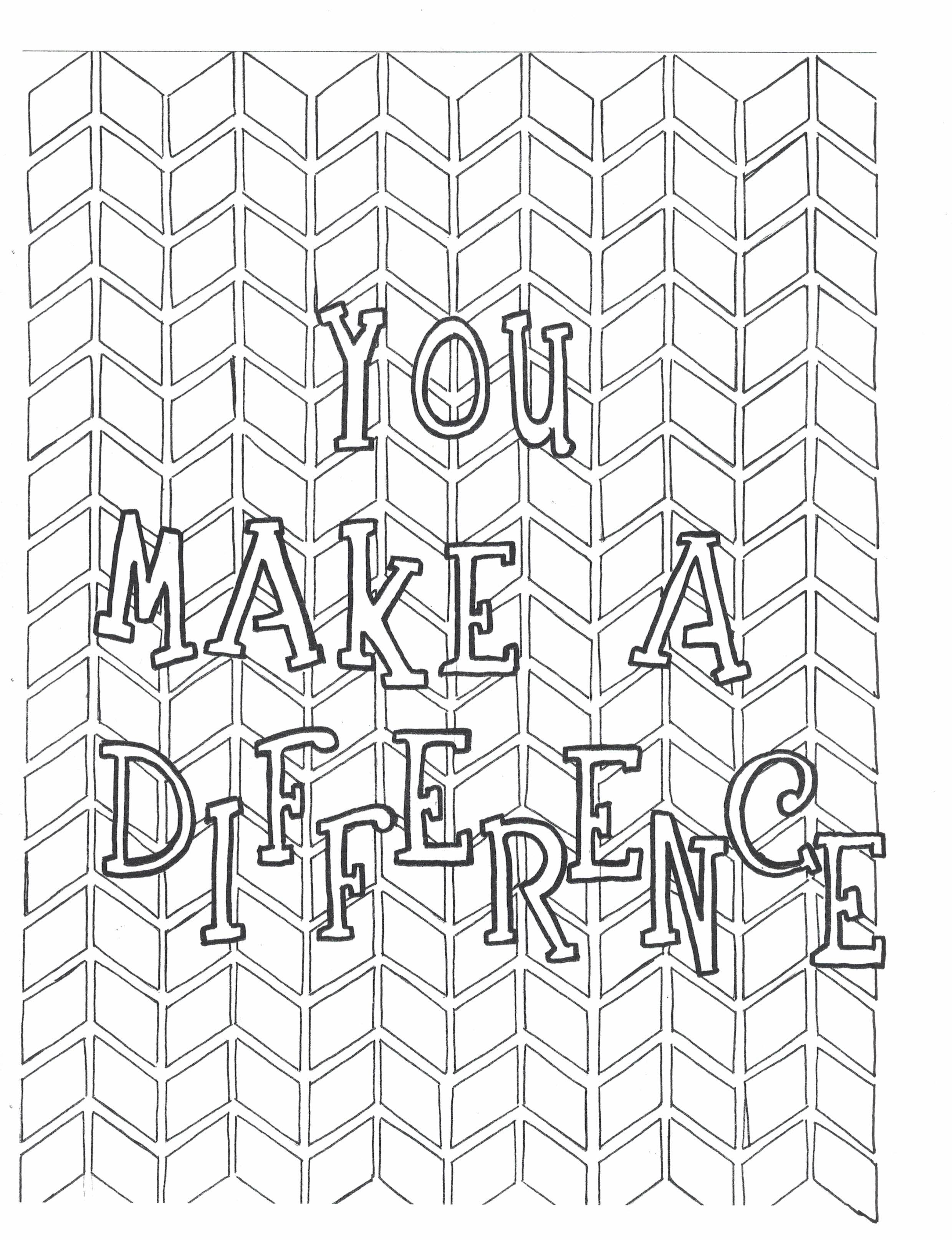 You Make A Difference Coloring Page Etsy Quote Coloring Pages Coloring Pages Coloring Books