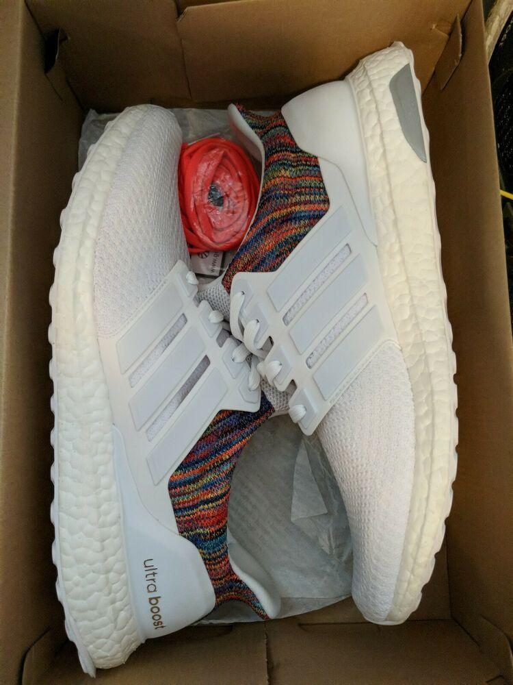 a5e402e895060 Mi Adidas Ultra Boost 2.0 Multi Color White Men s 12.5