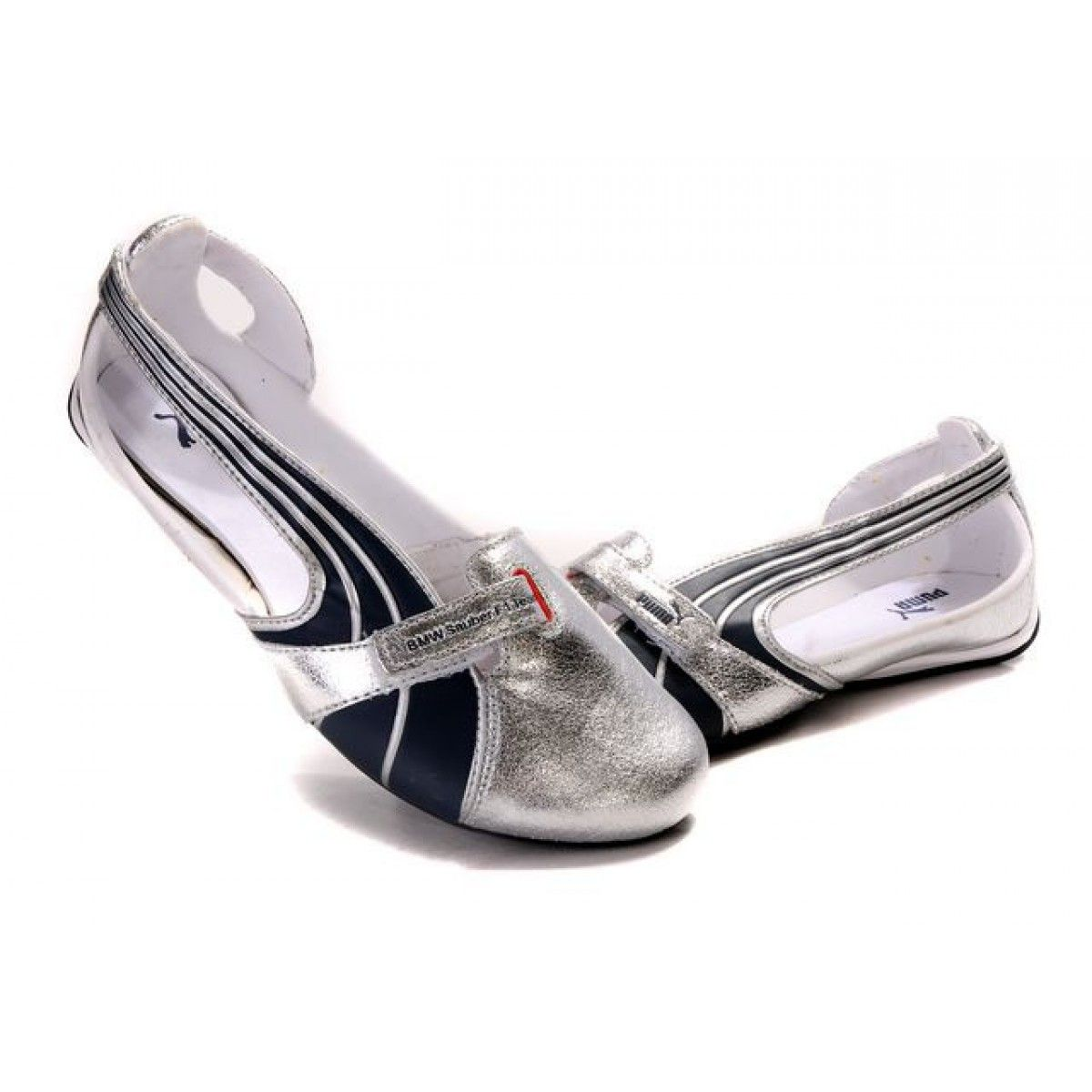brand new e2d4f e0669 Ballet Flats On Sale   Puma Espera II Ballerina Flats Womens Sandals -  Silver Black on sale