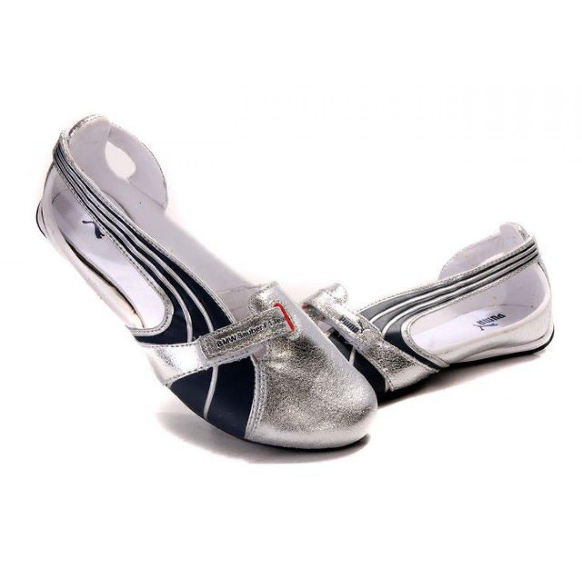 Puma black velcro sandals - Ballet Flats On Sale Puma Espera Ii Ballerina Flats Womens Sandals Silver Black