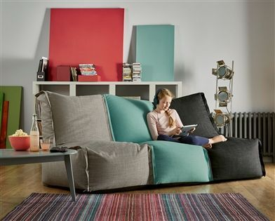 Enjoyable Buy Modular Lounger Bean Bag From The Next Uk Online Shop Squirreltailoven Fun Painted Chair Ideas Images Squirreltailovenorg