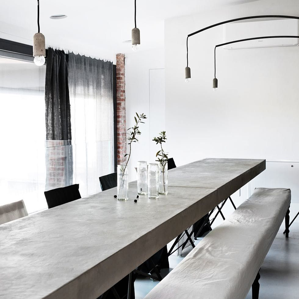 「Monica Rusconi family home Image: Morten Holtum (From Bo Bedre - Norway) #concrete #interior #interiors #instadesign #interiordesign #concretetable…」