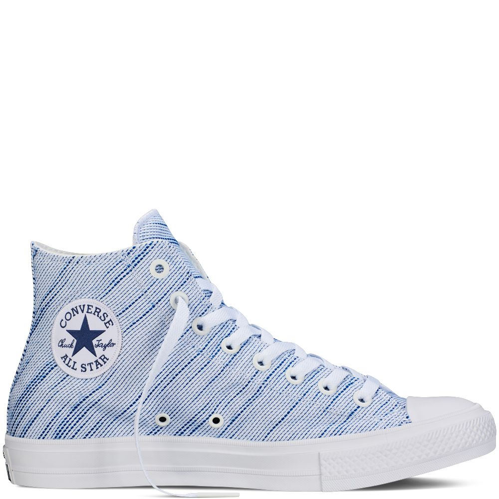 Chuck Taylor All Star II Knit White/Roadtrip Blue/Navy white/roadtrip blue  · Converse TrainersConverse ShoesShoes SneakersBlue ...
