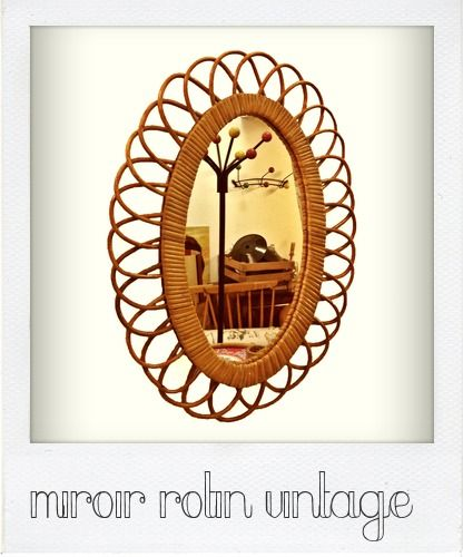 miroir rotin by Retronomy
