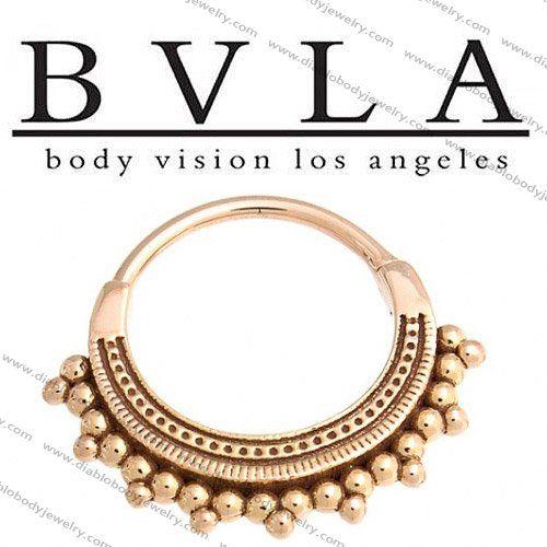 BVLA Afghan 14kt Gold Septum Ring 18g Body Vision Los Angeles