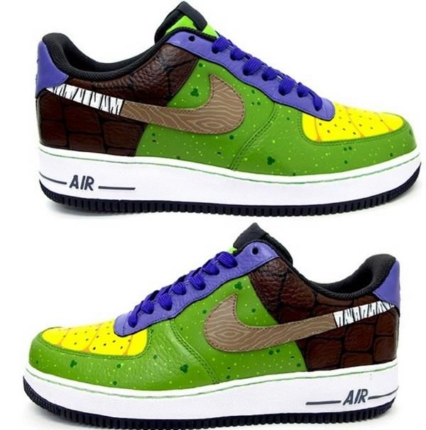 051ba112b55a Custom Donatello Nike Air Force Sneakers Are Perfect For Crime-Fighting.  Check the custom