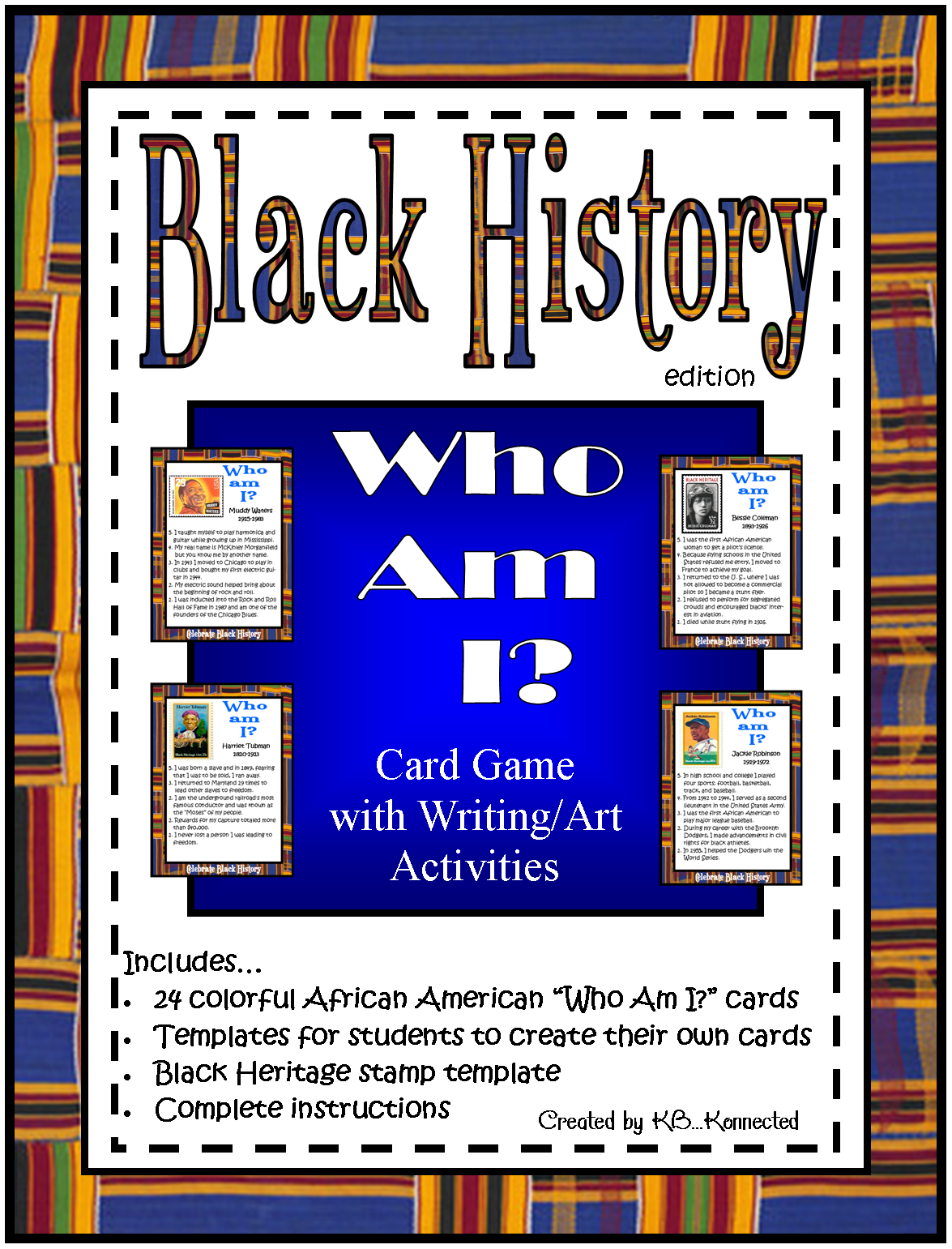 Black History Who Am I Card Game 24 Cards Attractive