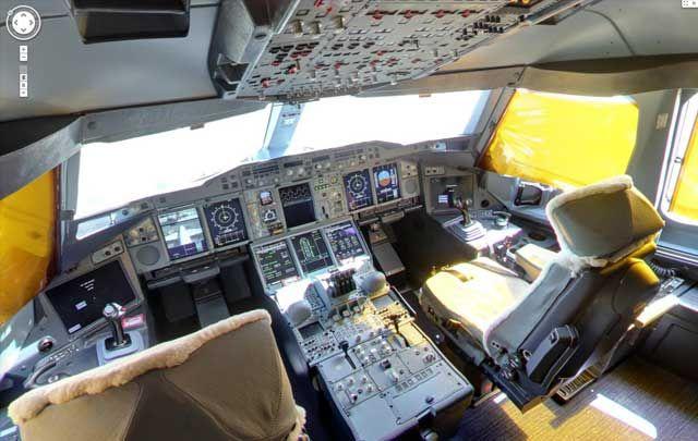 استمتع بجولة افتراضية داخل طائرة طيران الإمارات A380 Fransa Fotograf Pilot