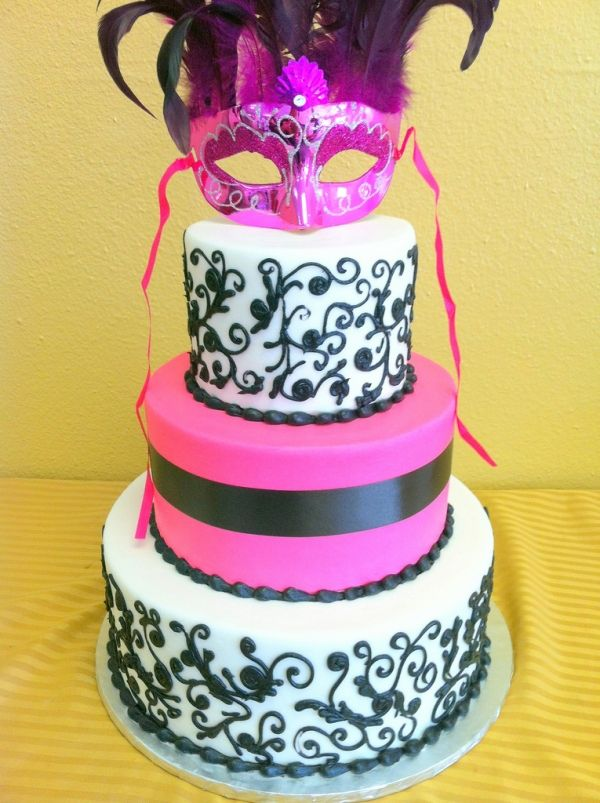 Masquerade birthday cake | Birthday Cakes in 2019 | Masquerade cakes ...