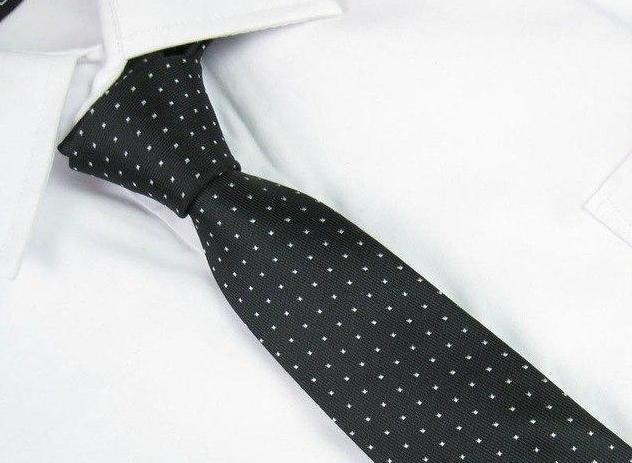 Men Slim Tie Party Wedding Office Necktie Jacquard Woven Plain Skinny Silk Tie