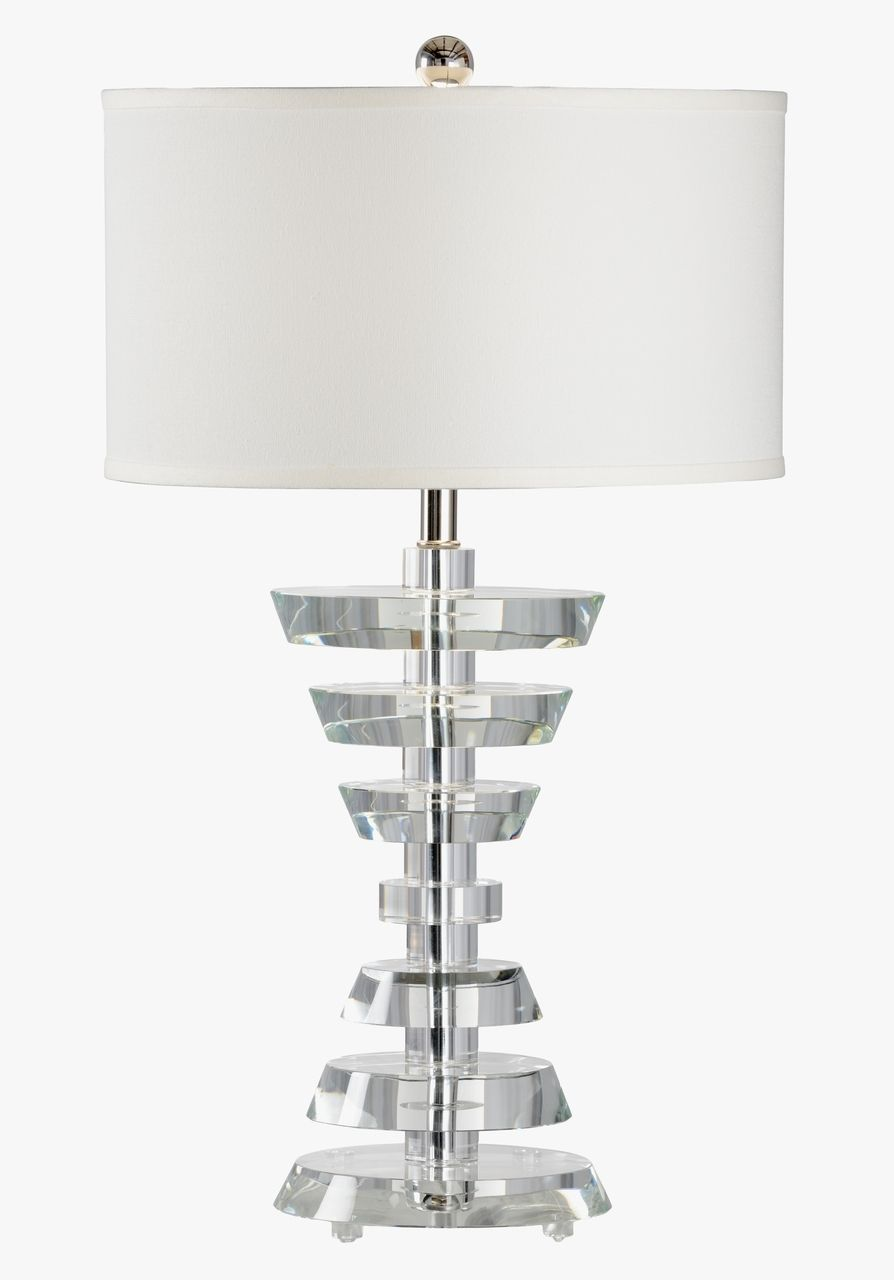 Abbey Modern Crystal Lamp By Chelsea House 31 Table Lamp