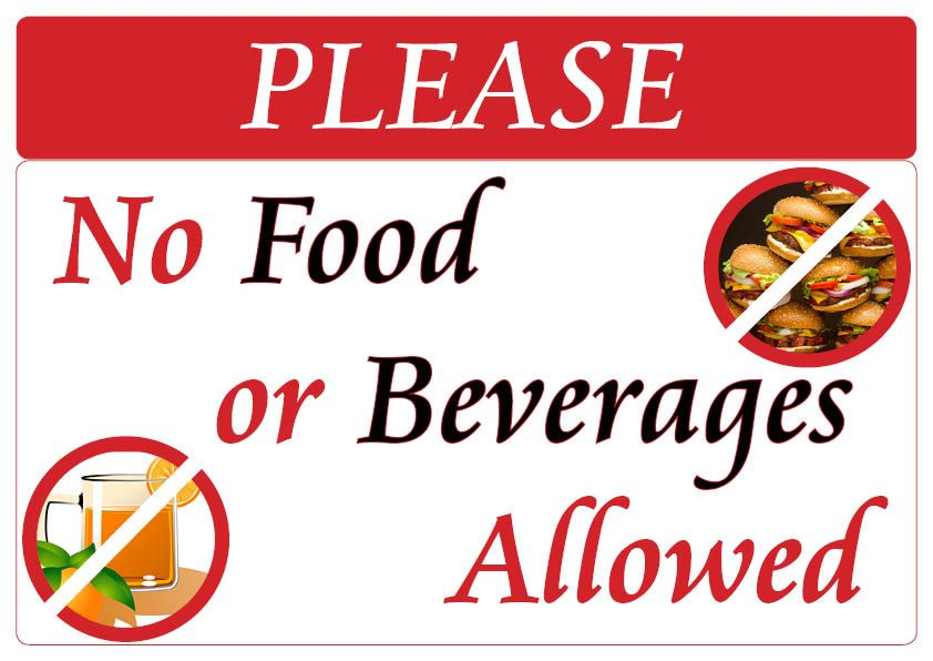 No food and beverages sign signs food and drink beverages