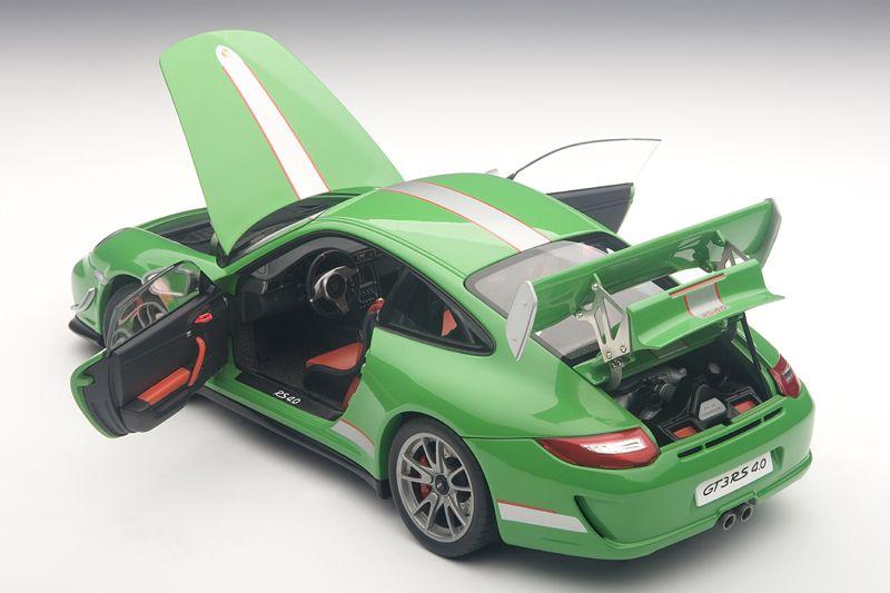 AUTOart: Porsche 911 (997) GT3 RS 4.0 - Green (78149) in 1:18 scale