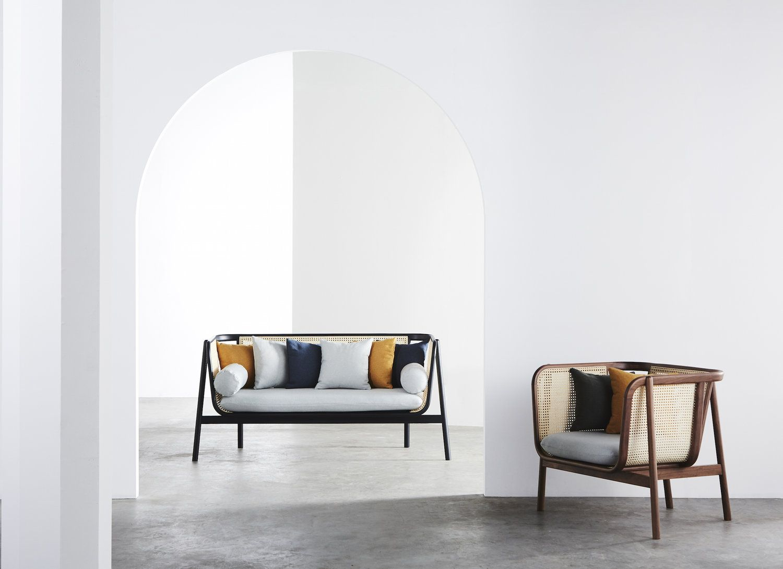 Explore cane collection vintage lounge chair