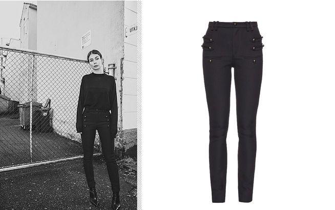 """Stretch Pants: Die norwegische Bloggerin Irina Lakicevic ist ein Fan der """"Lasia"""" Hose von Isabel Marant"""