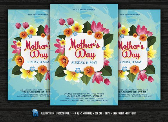 Mothers Day Flyer By Designworkz On Creativemarket Flyers