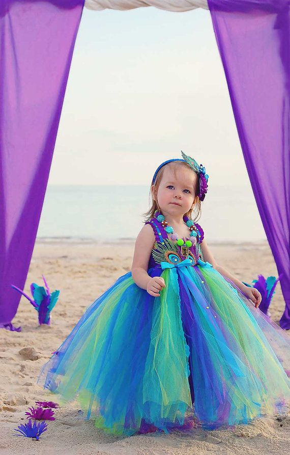 886bbe38c79c Peacock tutu dress Peacock Flower girl dress by GlitterMeBaby, $70.00