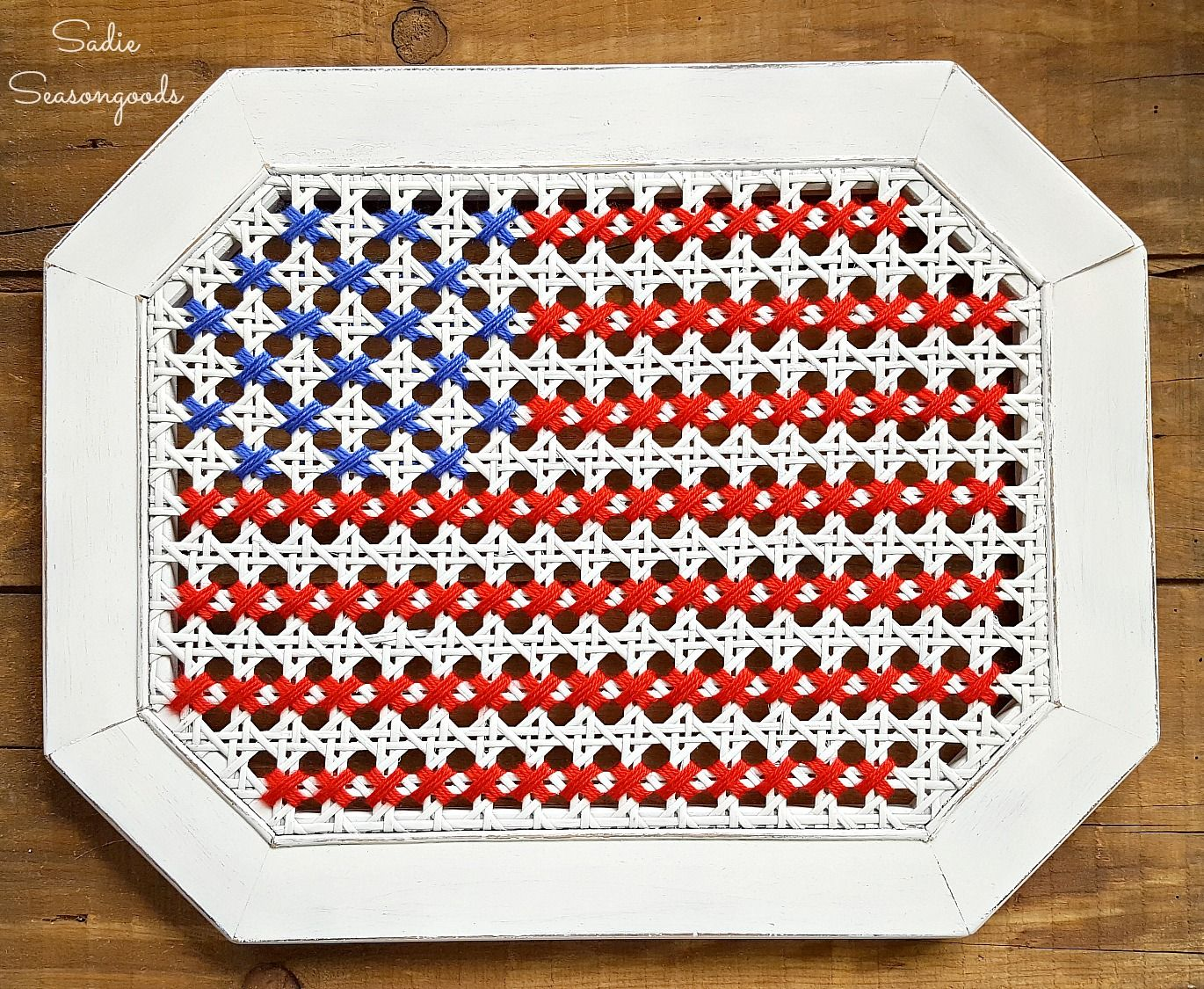 Oh Say Cane You See: Oversized Cross Stitch American Flag