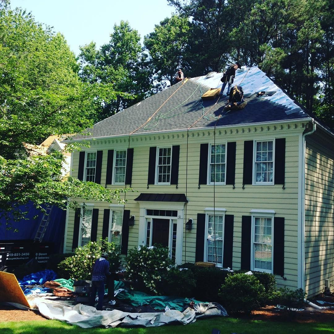 Best Re Roofing Project In Cary Nc Installing A Gaf Timberline 400 x 300