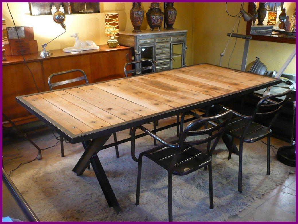 r sultat de recherche d 39 images pour grande table en bois brut et pieds en acier d coration. Black Bedroom Furniture Sets. Home Design Ideas