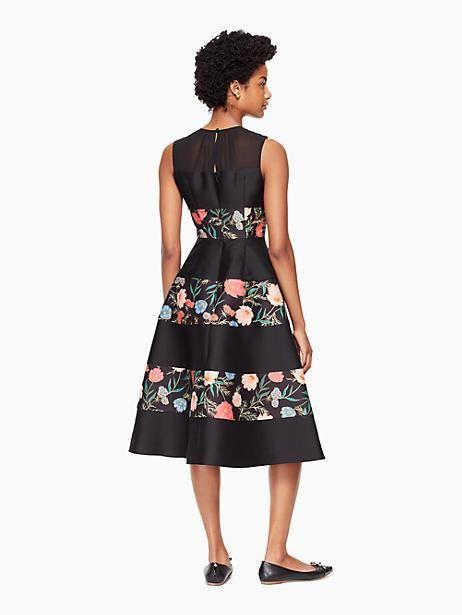 00016869f20 Kate Spade Blossom Mikado Midi Dress