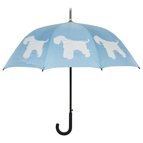 Schnauzer Powder Blue Walking Stick Umbrella Stick Umbrella Dog Umbrella Umbrella
